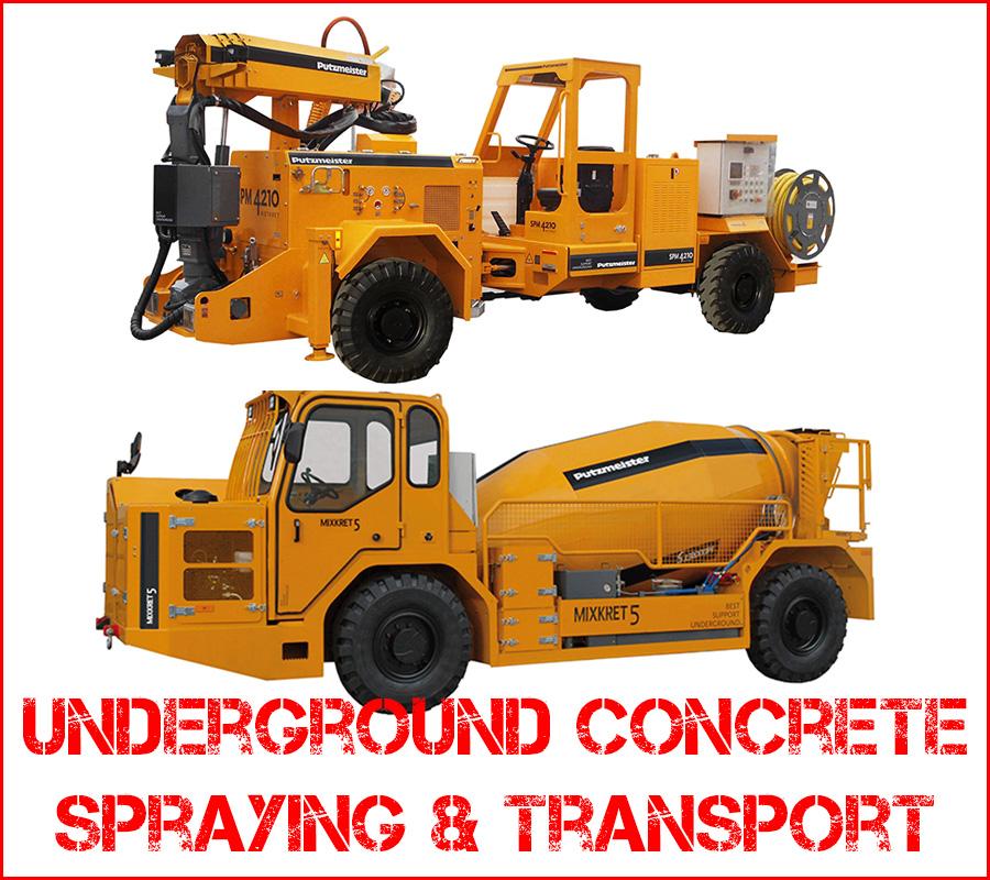 Underground-concrete-spraying-transport